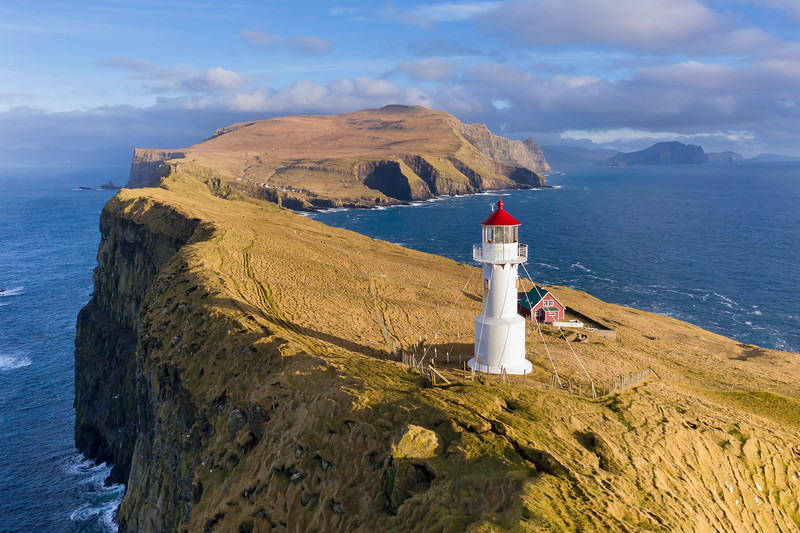 Mykines Holmur Lighthouse Aerial