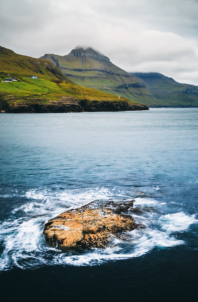 Seascape Near Leynar, Faroe Islands