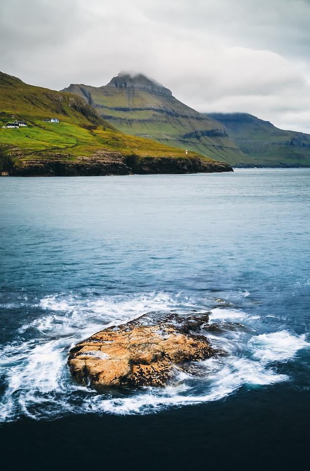 Seascape Near Leynar, Faroe Islands