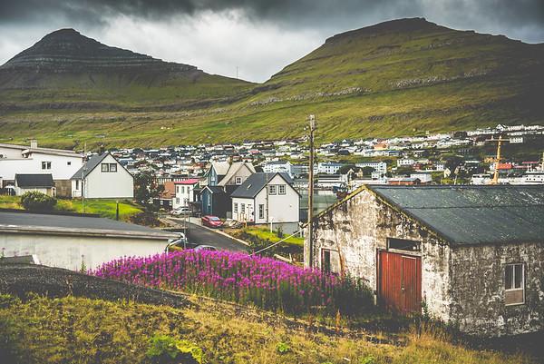 Klaksvík in the Faroe Islands. On our way to beautiful Kalsoy.