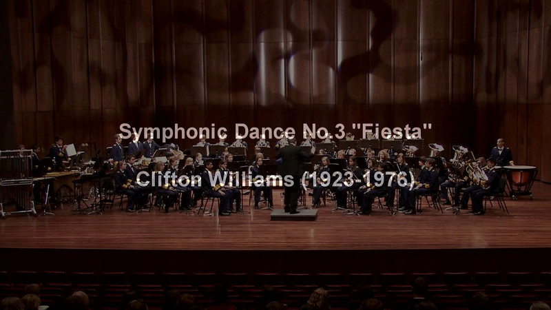 """Symphonic Dance No. 3 """"Fiesta"""" (1967), composed by Clifton Williams, performed by the Farragut High School Band at the 2010 CBDNA/NBA Southern Division Regional Conference at the Ford Center for the Performing Arts on the campus of the University of Mississippi in Oxford, MS"""