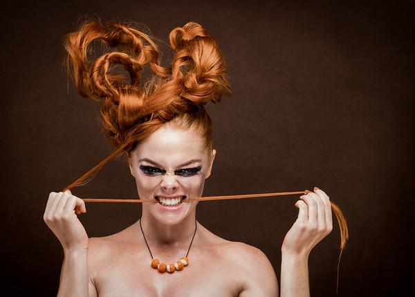 Creative Makeup Artist: Martha Mok  Hair Stylst: Martha Mok Model: Maddison -Cleo Musumeci (Red Head) Creative Makeup Artist: Kathy Criniti  Hair Stylist: Caroline Kitas & Martha Mok Makeup assistant: Beth Mercieca and Caroline Kitas Creative Stylist: Martha Mok Photographer: Tez Wanem Accessories Designer: Cara Mok