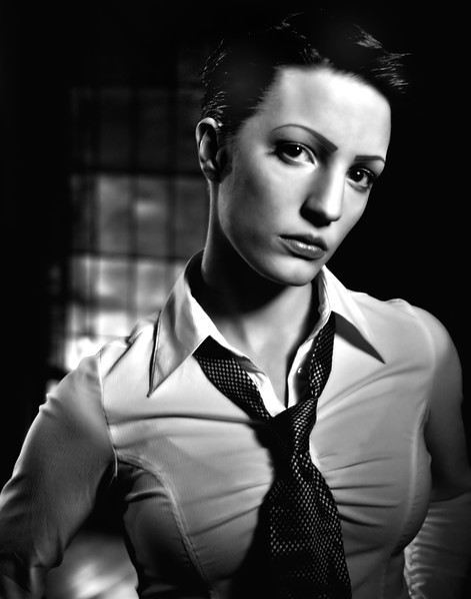 Editorial<br />                                       Liaisons dangereuses - A dream in cinematic noir.<br /> <br /> Location: The Tabernacle - Atlanta, GA - April 2011<br /> Models: Zoe and Brook<br /> MUA: Zoe<br /> Hair stylist: Mario Yildiz<br /> <br /> All photos @LGPhotoArt.com | Luigi Ginosa