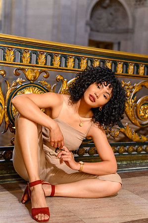 A test shoot with MDT Agency model Lisa at SF City Hall.