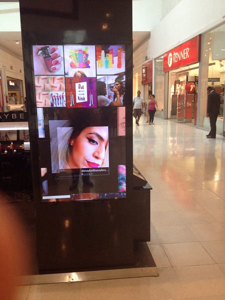 TINT player in Brazil for Loreal Mall Kiosks