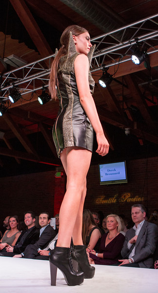Spiked dress, Art Institute of Seattle fashion show 2014