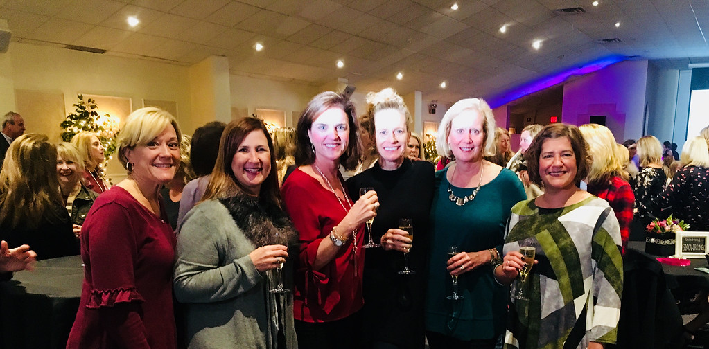 . From left, Sandra Brake, Joy Stickel, Ellen Edison, Christine Nolan, Joan Mitchell and Andrea McCarthy, all of Westford