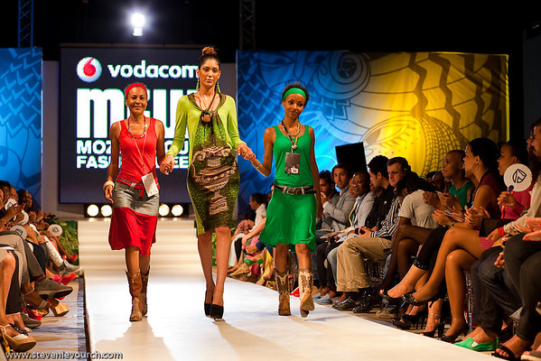 Mabel Manuela Toaiari and Anabela Da Silveira Guita at the 2012 Fashion Week, Maputo, Mozambique.