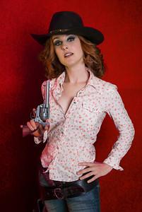 MARINA DEL REY, CALIFORNIA - Cowboy Kate studio photoshoot with actress Ange Billman. Photo taken Monday, August 11th, 2008 by Tom Sorensen.