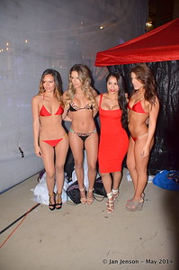 Ashley (in red dress), owner of DNA Swim looked amazing as her swim suit designs debuted May 10, 2014...!!!