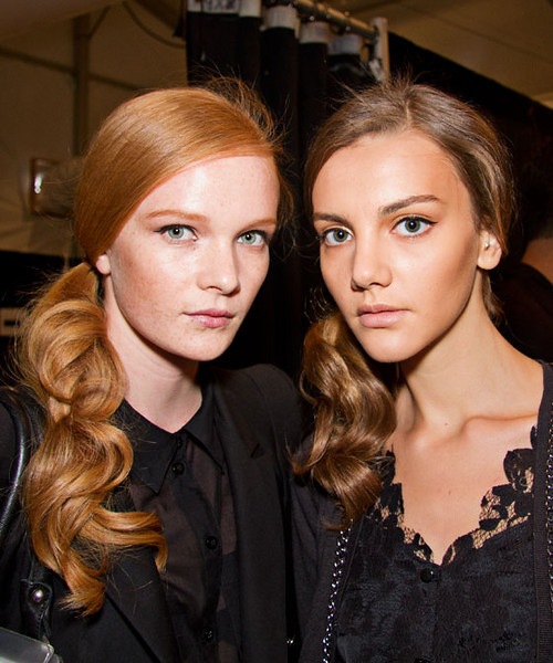 60's inspired side ponytails by Jourdan M at Bumble & Bumble