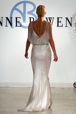 St James, a clear crystal beaded gown with blouson detail, from Anne Bowen's Spring 2013 Collection called Coat of Arms.