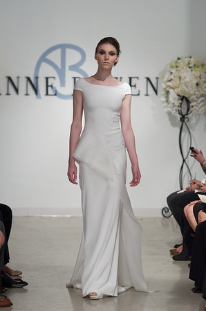 Marquess, an orchid white 4-ply silk gown with satin faced organza detail, from Anne Bowen's Spring 2013 Collection called Coat of Arms.