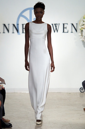 Baron, an orchid white 4-ply silk gown with back beaded detail, from Anne Bowen's Spring 2013 Collection called Coat of Arms.