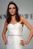 Abbey, an ivory beaded Chantilly lace short halter dress, from Anne Bowen's Spring 2013 Collection called Coat of Arms.