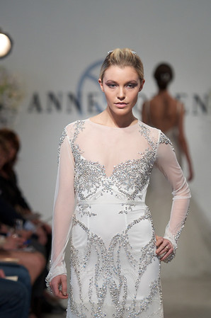 Armor, a net and silk thread embroidered dress with prong set stones, from Anne Bowen's Spring 2013 Collection called Coat of Arms.