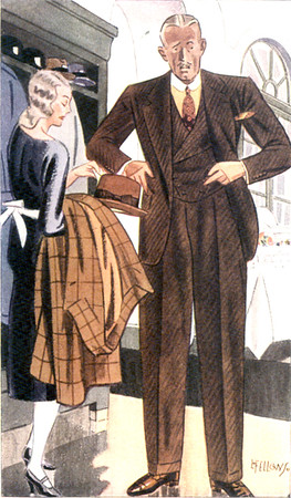Apparel Arts - Fellows, Laurence 094 - 1933 DB Vest Brown Suit