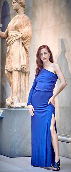 Oct. 28, 2017- - New York New York Bailee Zimmerman photoshoot at the Met Museum in Halston gowns and shoes  Photographer- Robert Altman Credit: Robert Altman