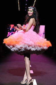 The Betsey Johnson spring 2011 collection is shown during Fashion Week in New York, Monday, Sept. 13, 2010. (AP Photo/Diane Bondareff) ORG XMIT: NYDB120
