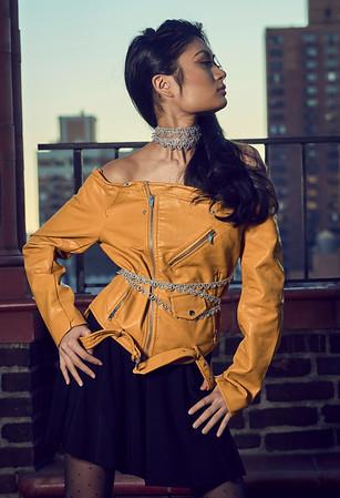 Feb. 19, 2017 - Break Bread Fashion leather jacket shoot Pod 39 rooftop