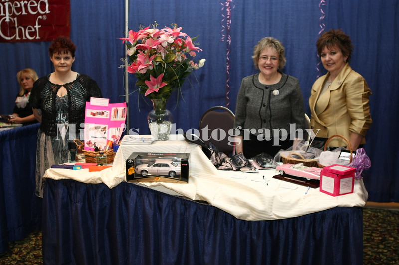 Stella Fischer, Janet Grantham, (both Star City)  Debbie McWilliams (Maumelle) with Mary Kay