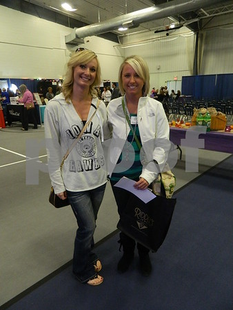 Left to right: Niki Cummens (bride's support) and Taryn Cassens (Bride)