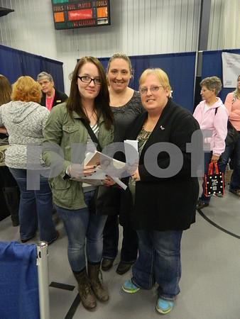 Left to right: Madeline Westrum (bride), Cyndee Westrum, Nicki Klindt