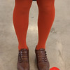 Photo by Tessa Morris<br /> <br /> In this scene: I love the orange tights combined with the leather shoes.