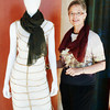 Camilla Olson poses with one of her designs during a fashion luncheon showcasing her Fall 2011 line at Quattro at Four Seasons.<br /> <br /> Photo by Jessica Shirley-Donnelly, JRSD Photography
