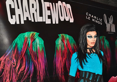 An exhibition of transgressive movement hosted by Debbie Harry and Ladyfag presenting artist Charlie le Mindu's newest performance work, CHARLIEWOOD, at Cedar Lake in Chelsea - 28 November 2016