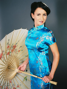 Photoshooting with chinese costumes