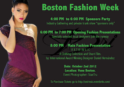 Boston Fashion Week promo featuring my shot of Maybelline.