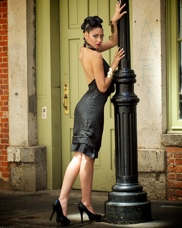 """Dark Night"" Model - Maybelline  Clothing Designer - Adriana Giron Jewelry Designer - Pearl Naidoo Make Up - Rue Mendez Hair - Willie Hall Photographer - Joe Sales Location - Manhattan, New York Note - Thank you to Lloyd Crawford for making this all possible."