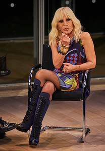 Donatella Versace Book discussion WWD