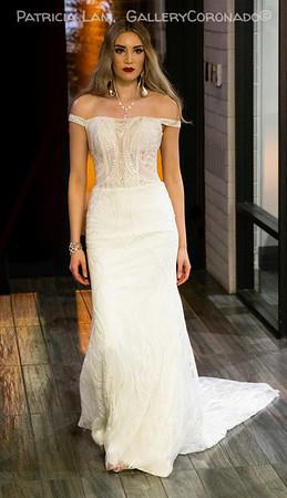 Model blond wedding dress 6693
