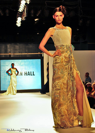 Couture by Kevan Hall. International Supermodel - Tara Gill