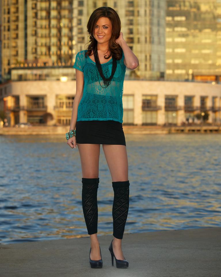 Meghan at Baltimore's Inner Harbor