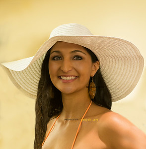 Cassie in white hat 7847