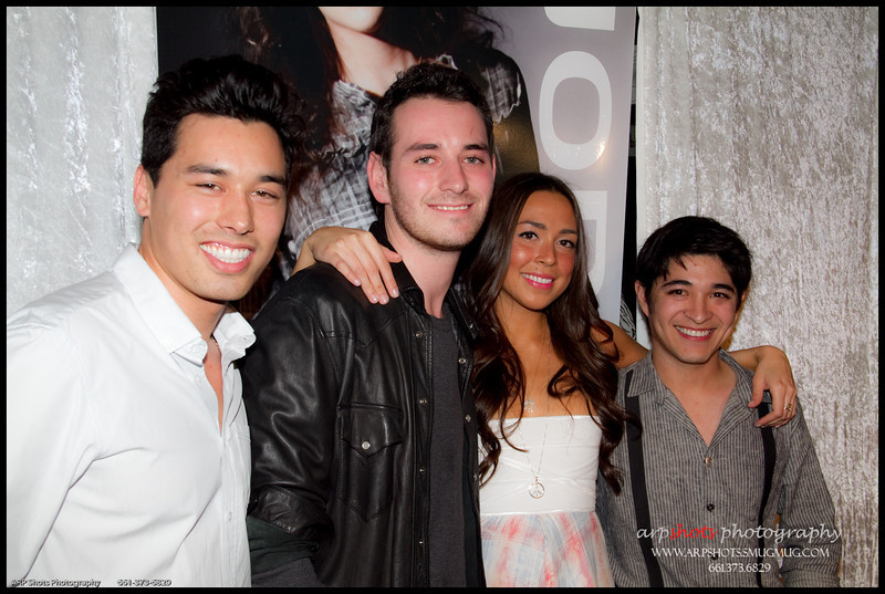 SJOBECK's designers Garrett Gerson, Jesse Ray Vasquez & Lani Lupton with friend