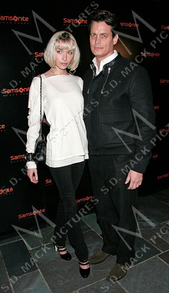 NEW YORK - FEBRUARY 05:  Actress Noelle Reno and Socialite Matthew Mellon attend the Samsonite Black Label Launch of Iconic Trunk Collection Fall 2008 during Mercedes-Benz Fashion Week at The Cellar Bar at the Bryant Park Hotel on February 5, 2008 in New York City.  (Photo by Steve Mack/S.D. Mack Pictures) *** Local Caption *** Noelle Reno; Matthew Mellon