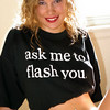 The T-Shirt Says it All (model: Leslie)