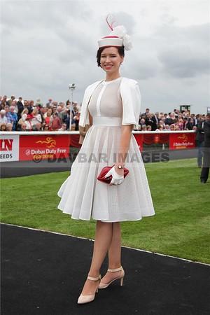 Lorraine O'Sullivan - Best Dressed Lady at the Dubai Duty Free Irish Derby (July 2015)