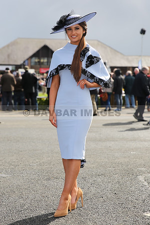 Kirsty Farrell - Best Dressed Lady Competition at the 2016 Punchestown Festival (April 2016)