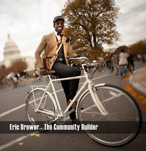Eric Brewer, organizer and founder of the third annual 2011 Tweed Ride in Washington, DC.