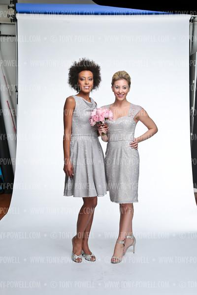 Green and Blue Studio Bridal Shoot