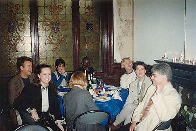 Jaarvergadering 1994 boven het nieuwe filiaal in Antwerpen