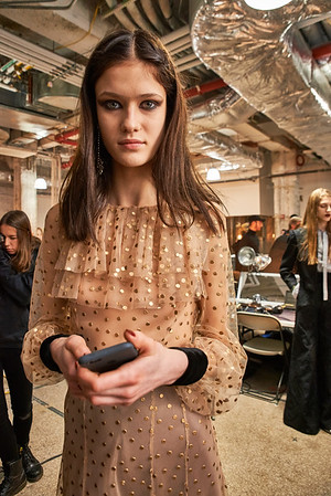 Feb. 11, 2017 - NYFW Feb 2017   Jill Stuart backstage