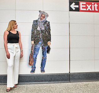 May 22, 2017- New York, NY USA,  Julia Victoria Moroz street shoot at the 72nd St. Q train subway stop  Credit: Robert Altman
