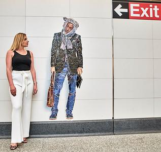 May 22, 2017- New York, NY USA,  Julia Victoria Moroz street shoot at the 72nd St. Q train subway stop  Credit: Robert Altman