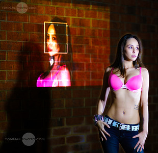 Kaylin pink bra projection 235 edit